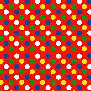 Tnt Estampado - Bolas Clown -1 metro