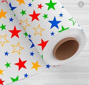 Tnt Estampado - Estrelas colorida -1 metro