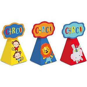 Caixa Para Lembrancinhas - circo- 08 unidades