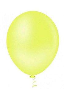 Balão Látex - 9 Polegadas - Amarelo Neon - 50 unidades