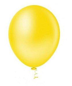 Balão Látex - 9 Polegadas - Amarelo - 50 unidades