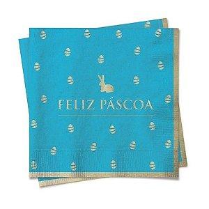 Guardanapo de papel - Feliz páscoa - Azul