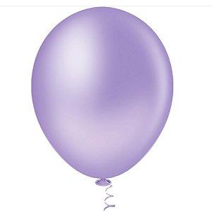 Balão Látex - 9 Polegadas - lilás - 50 unidades