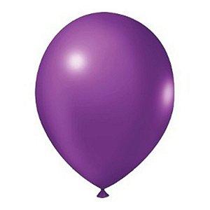 Balão Látex - 9 Polegadas - Roxo - 50 unidades