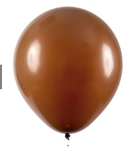Balão Látex - 9 Polegadas - Marrom - 50 unidades