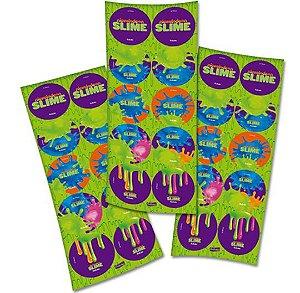 Adesivo Redondo - Slime - 30 unidades