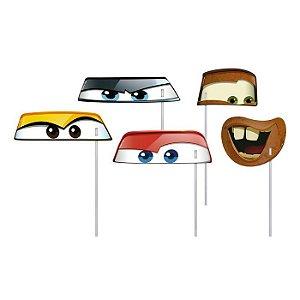 Máscara Com Vareta - Carros - 16 Un