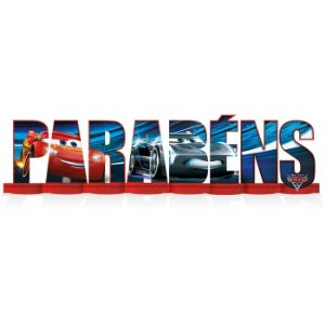 Decoração De Mesa - Parabéns Carros -01un.