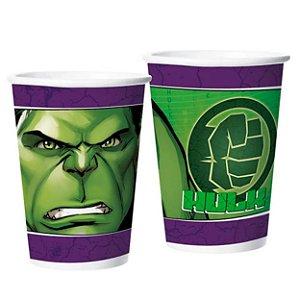 Copo de Papel 180ml - Hulk Animação - 08 unidades
