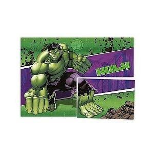 Painel 4 Folhas Decorativo - Hulk