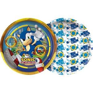 Prato de Papel - Sonic - 12 unidades