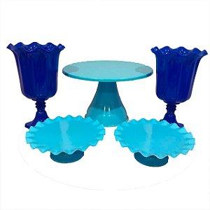 Kit Boleira - azul grande - 5 unidades