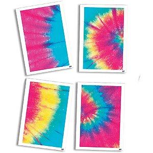 Quadros Decorativo Tie Dye - 4 unidades