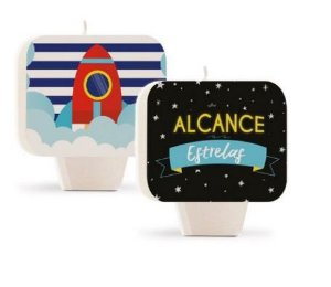 Vela Plana Dupla Face - Festa Astronauta