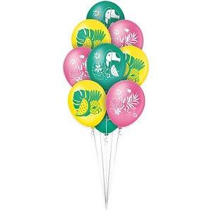 Balão Látex - 9 Polegadas - Festa Tropical - 25 Un.