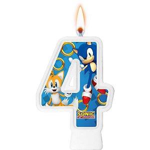 Vela numeral - Sonic - N° 4
