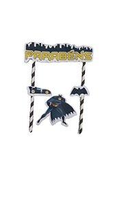 Kit Topo de Bolo - Festa Batman Geek