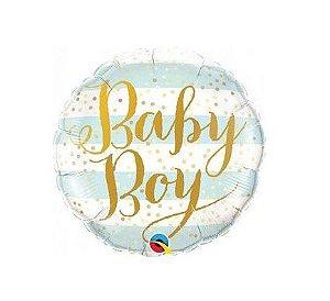 Balão Metalizado - Baby Girl - Azul
