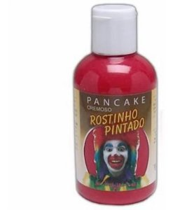 Pancake Cremoso Para Maquiagem Artística - vermelho