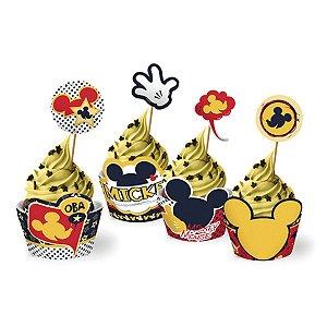 Saia de Cupcake Wrapper - Mickey - 12 unidades