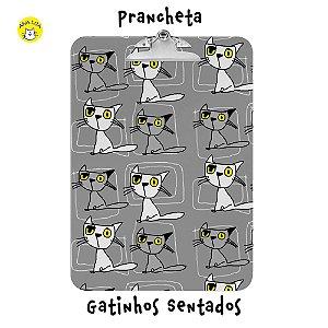 Prancheta Gatos sentados