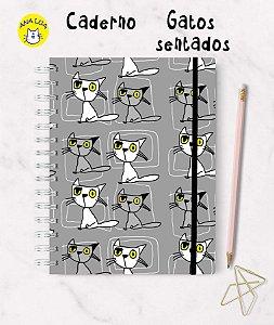 Caderno Gatos Sentados