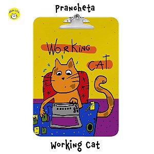 Prancheta Working Cat