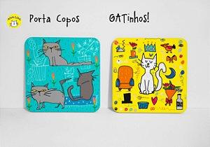 Conjunto de Porta Copos GAtinhos!