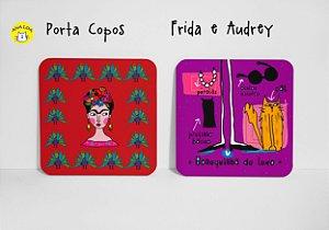 Conjunto de Porta  Copos  Frida e Audrey