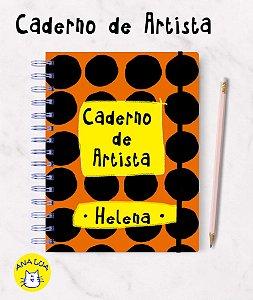 Caderno com seu nome - Artista
