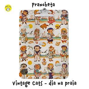 Prancheta Vintage Cats - Dia na praia