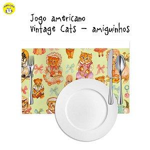 Jogo Americano Vintage Cats Amiguinhos