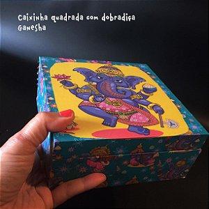 Caixa Quadrada com dobradiça Ganesha