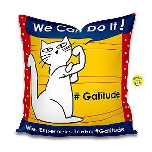 Capa de almofada #Gatitude