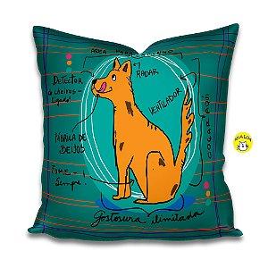 Capa de almofada Infográfico Cão
