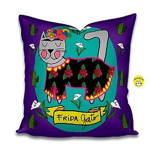 Capa de Almofada Frida Gatinha