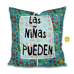 Capa de Almofada Las Niñas Pueden