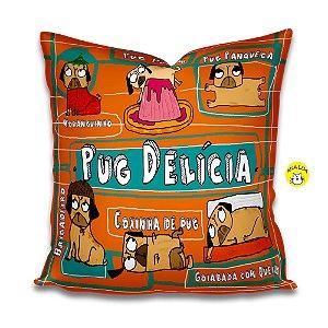 Capa de Almofada Pug Delícia