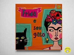 Plaquinha Frida e seu gato