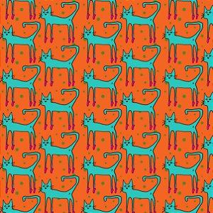 Tecido a metro -  Dancing Cats