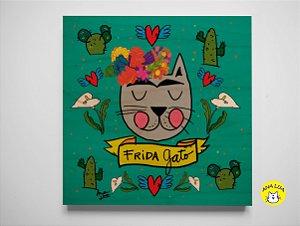 Plaquinha Frida Gato