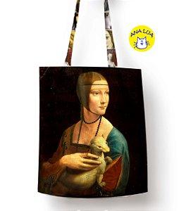 Sacola Arte - Dama com arminho, Da Vinci