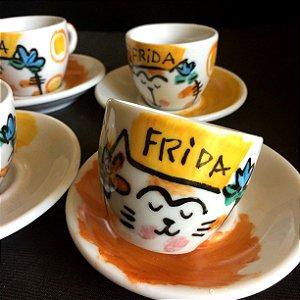 Hora do cafezinho - Frida gatinha