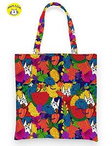 Book  Bag  Gatos, Frutos e Flores