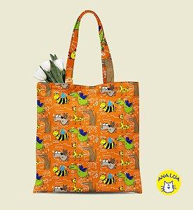 Book bag  Bichos Estranhos fd laranja