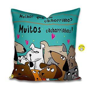 Capa de Almofada  Muitos Cachorrinhos