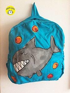 Mochila Infantil Tubarão