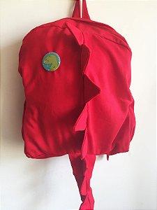 Mochila infantil Dino vermelho