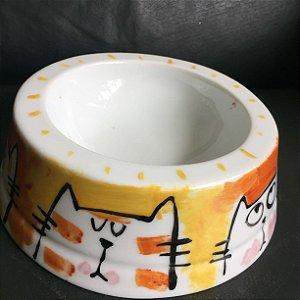 Comedouro Gatos fofos