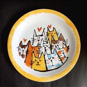 Pratinho de sobremesa Muitos Gatos
